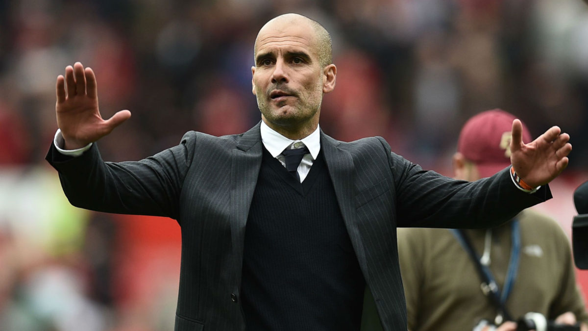 Manchester City's rotating back three builds on Pep Guardiola's love of build up